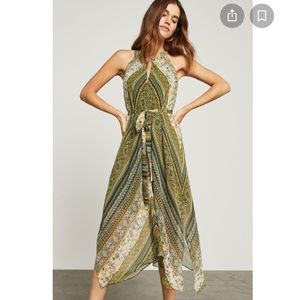 BCBGMaxAzria Marrakesh Stripe Handkerchief Dress